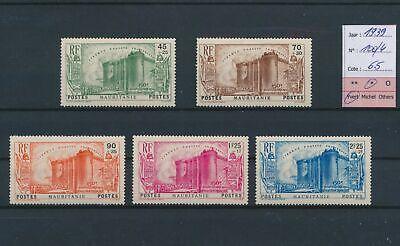 LO18785 Mauritania 1939 anniversary french revolution lot MH cv 65 EUR