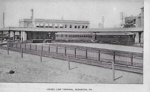 Laurel Line Terminal, Scranton PA handsome vintage postcard unused