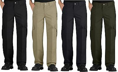 Dickies Men's Lightweight Relaxed Fit Straight Leg Ripstop Tactical Duty Pants Black Lightweight Tactical Pants
