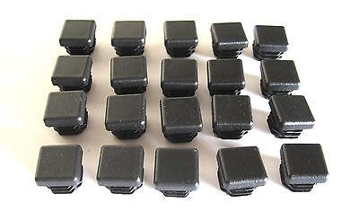 20 - 34 Square Tubing Plastic Plug End Cap Chair Glide Post Pipe Tube .75