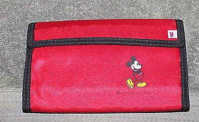 NICE OLDER DISNEY MICKEY MOUSE RED LARGE WALLET