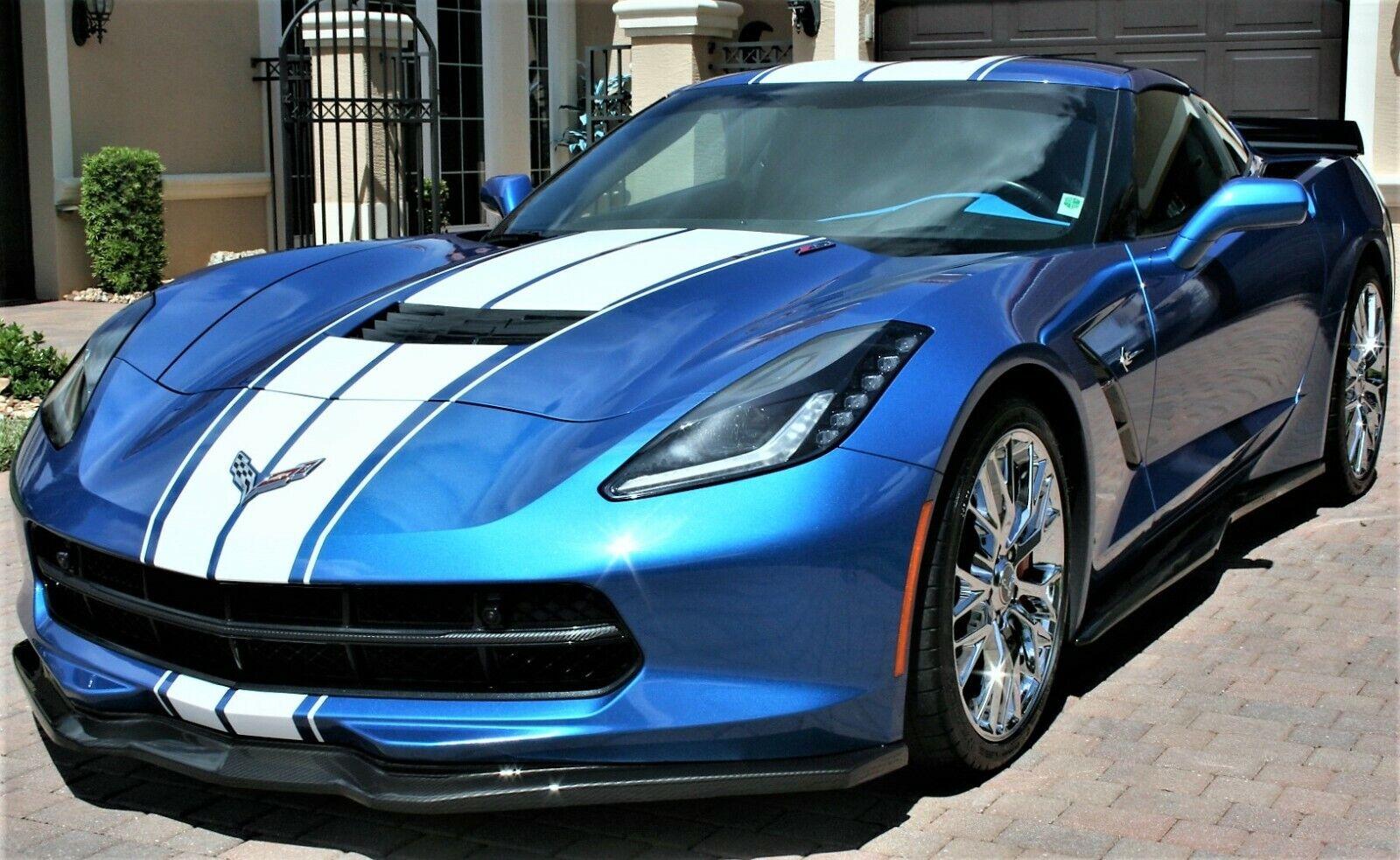 2016 Laguna Blue Chevrolet Corvette  3LT   C7 Corvette Photo 1