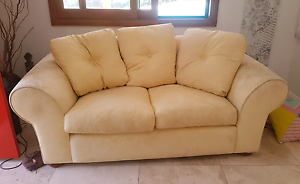 Gold sofa Suite 2 seater and 3 seater Avalon Pittwater Area Preview