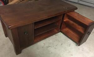 SOLID wood entertainment/TV unit Warner Pine Rivers Area Preview