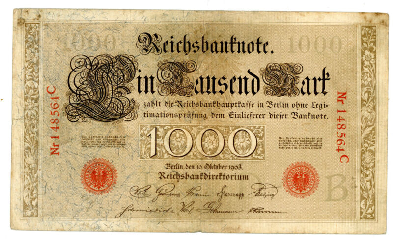 Germany … P-23 … 1000 Mark … 1903 … *F+*