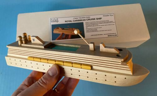 Royal Caribbean CRUISE SHIP wooden toy boat model, by Scherbak USA
