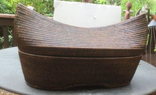 Large unique Indonesian basket