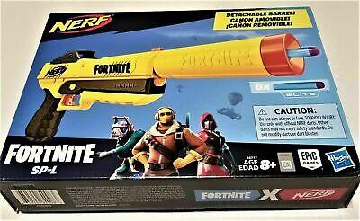 Nerf Fortnite Sp-L Elite Dart Blaster Replica Pistol E6717 w/6 DARTS damaged BOX