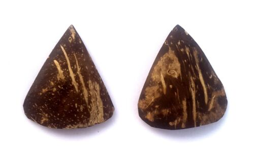 2 Hands Crafted Traditional High Grade Coconut Shell Sarod Jawa Pick Plectrum