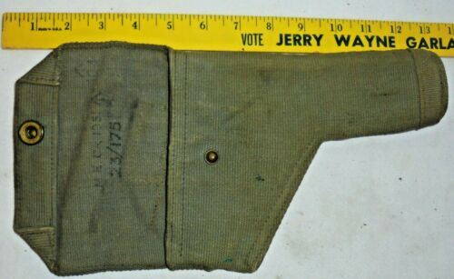 1951 British Canvas Holster FOR LARGE PISTOL