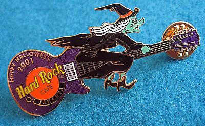 Jakarta Halloween Grün Böse Hexe Lila Besenstiel Gitarre Hard Rock Café