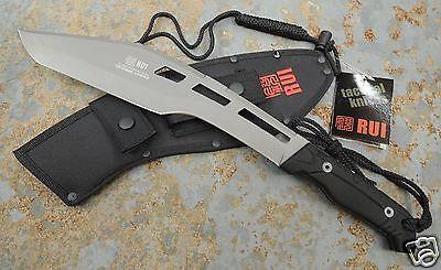 RUI Tactical Messer Machete Buschmesser Hackmesser  Stahl + Nylonscheide 31828