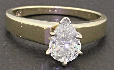 EGL 14K gold 1.19CT SI3/D-E Pear diamond solitaire wedding/engagement ring
