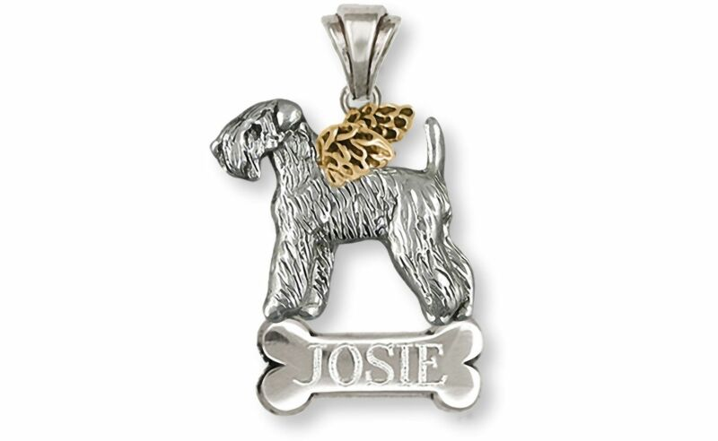 Soft Coated Wheaten Terrier Angel Jewelry Silver And 14k Gold Handmade Wheaten P