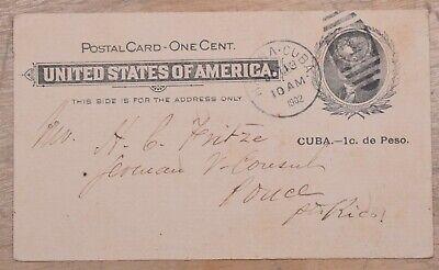 MayfairStamps Habana 1902 to Puerto Rico Used Stationery Card wwo79369