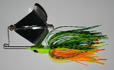 "Red w//Red Glitter 1//2 Oz Custom /""Head Thumper/"" Topwater Buzzbait - Bass Fishing"