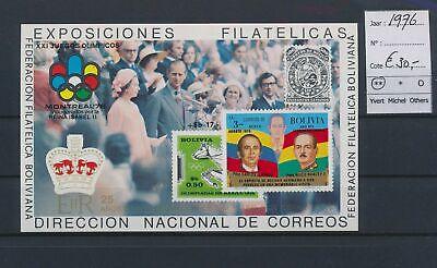 LO17148 Bolivia 1976 philatelic exhibition imperf sheet MNH cv 30 EUR