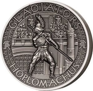 Salomon Islands 2017 5$ HOPLOMACHUS Hoplite Gladiators 2oz Silver Coin - Ostrowiec Swietokrzyski, Polska - Salomon Islands 2017 5$ HOPLOMACHUS Hoplite Gladiators 2oz Silver Coin - Ostrowiec Swietokrzyski, Polska