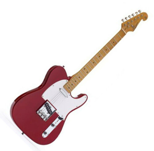 SX ELECTRIC GUITAR TELE SHAPE SOLID BODY IN RED FREE GIG BAG & DELIVERY