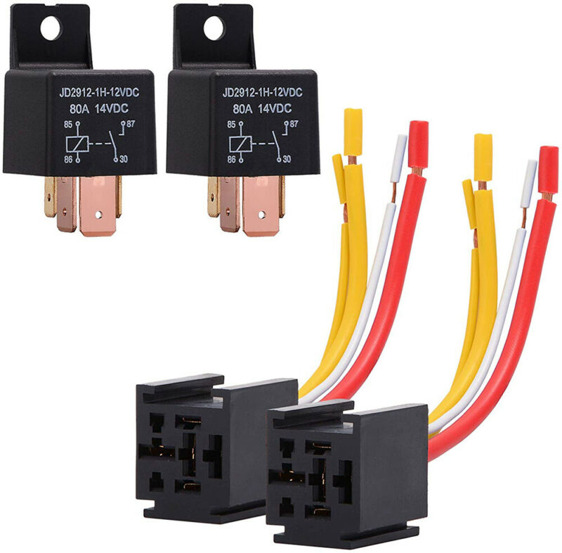 12V Heavy Duty Relay 80A SPST 4pins DC Relay for Car Bike Boat Home Tool US Ship