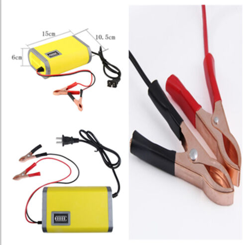 Motorcycle Car Auto Battery Charger Maintainer Trickle 12V 6A Adapter Power New