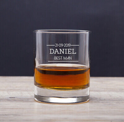 Personalised Best Man Glass Tumblers Gifts Ideas For Wedding Thank You