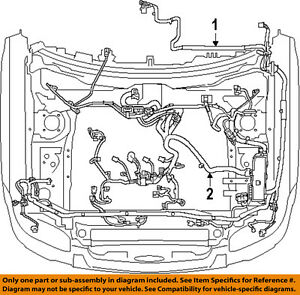 FORD OEM 8L8Z12B637AA Engine Control Module Wiring Harness ...