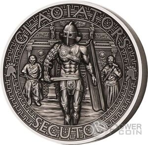 SECUTOR Gladiators 2 Oz Silver Coin 5$ Solomon Islands 2017 - Italia - SECUTOR Gladiators 2 Oz Silver Coin 5$ Solomon Islands 2017 - Italia