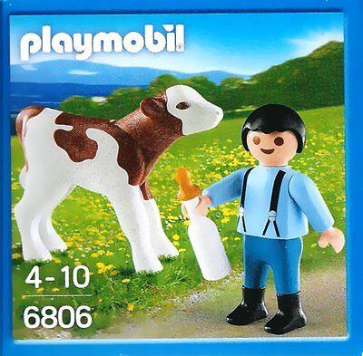 6806 - Garçon avec le veau et le biberon