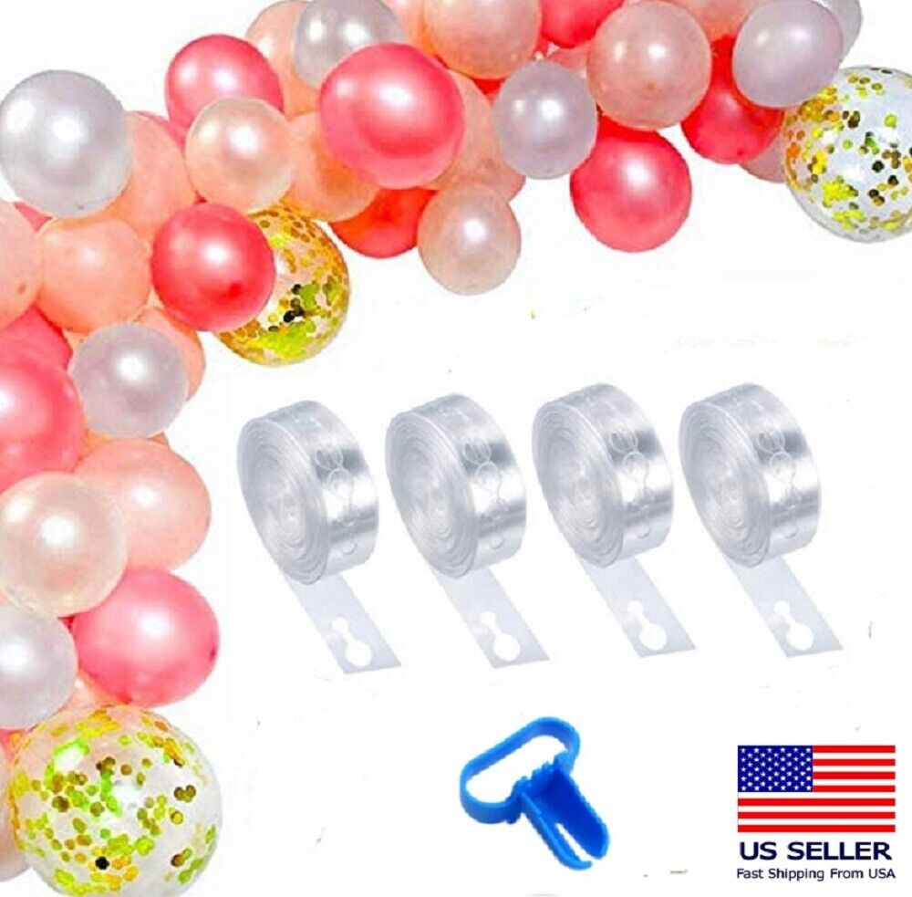 5m Balloon Chain Tape Arch Connect Strip for Wedding Birthday Party Decor Tools Balloons