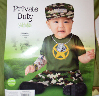 12 Month Boy Halloween Costumes (Baby Boy Halloween Private Duty Soldier 2 Pc Costume Outfit Sizes 12-18)