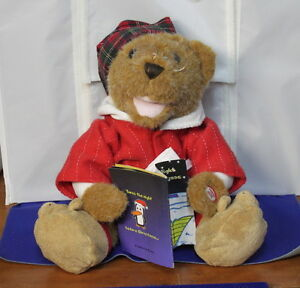"""Talking """"T'S THE NIGHT BEFORE CHRISTMAS"""" TEDDY BEAR"""