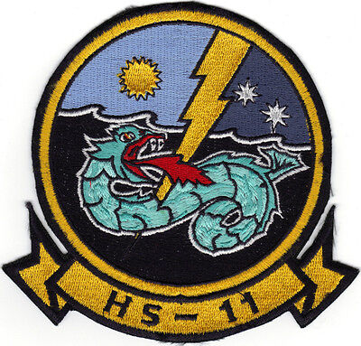 Hs-11 (us Navy Squadron Patch) (from Squadron 1986)