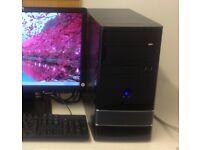 ULTRA FAST Dual Core 4GB 160GB Desktop Dvdrw Gaming PC Computer
