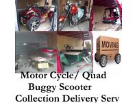 Bike Quad Scooter Buggy Collection Delivery Van Hire West midlands to All UK Bike Collection Delive