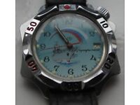 Wostok Admiralskie manual wind mechanical wristwatch - Russia - Vintage- Quirky case