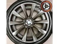 "21"" Genuine BMW alloys X5 X6 staggered refurb good tyres."