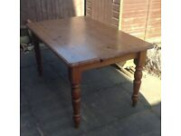 6ft Farmhouse Pine Dining Table - Ideal upcycle project