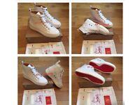 Christian Louboutin White Footwear Unisex Men Womens Boys Girls Trainers Sneakers Loubs Various Size