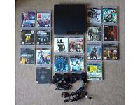 PS3 Slim 320GB, 18 games, 1 controller
