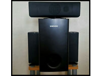 Samsung Speakers and Passive Subwoofer.