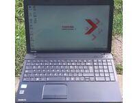 Toshiba Laptop. i3, 6GB RAM, 500GB HDD, Webcam.