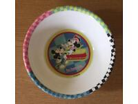 Micky mouse plate and bowl set (Used rarely)