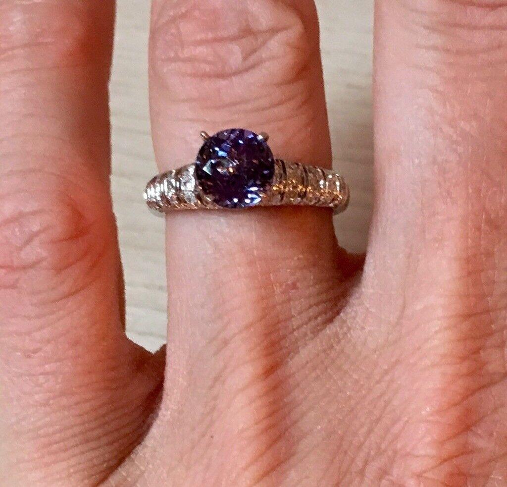Tanzanite & diamond ring | in Kilmarnock, East Ayrshire | Gumtree