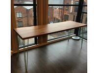 Solid wood, large and very sturdy desk