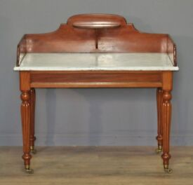 Attractive Antique Victorian Mahogany Marble Top Washstand Dressing Table