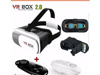 VR BOX 2.0 Virtual Reality Headset 3D Video Movie Game Glasses Remote Controller