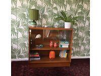 G PLAN Brandon Glazed Oak Bookcase / Display Case / Cabinet 1950s Vintage / Retro / Mid Century