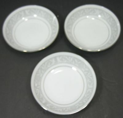 "Lot/3 Imperial China ""Whitney"" Fruit Dessert Bowls with Gray Band Leaf Scrolls 5"