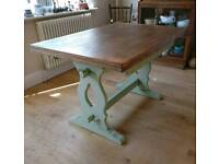 Vintage draw leaf table seats 4-8, dining table, kitchen table